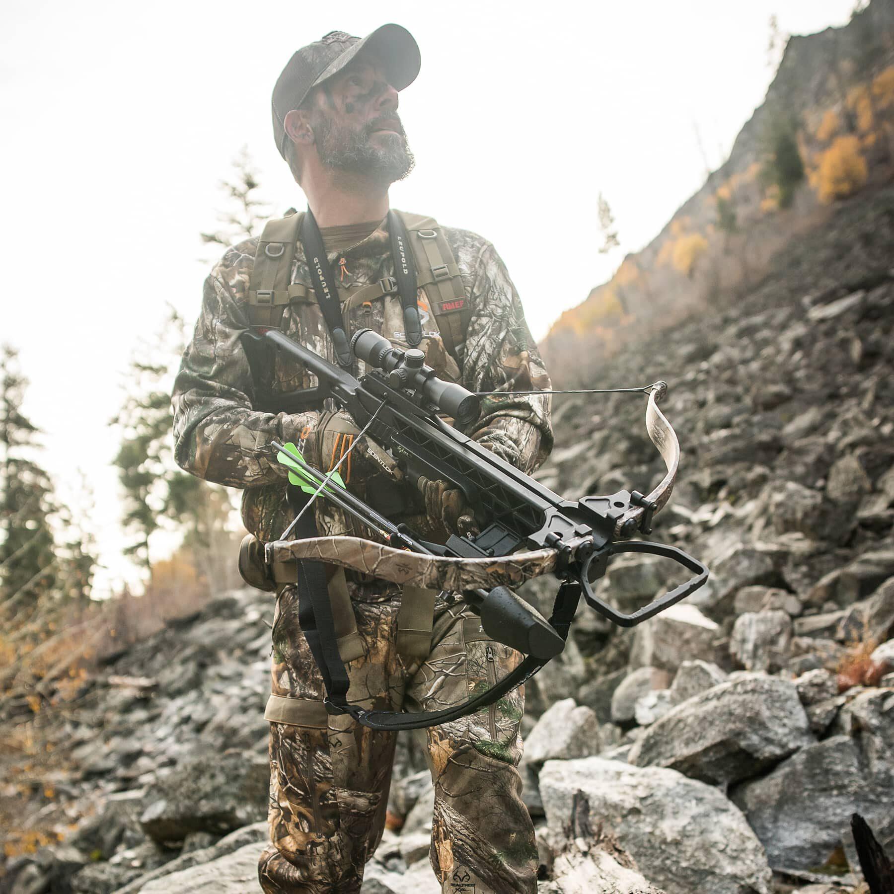 hunter holding the grz 2