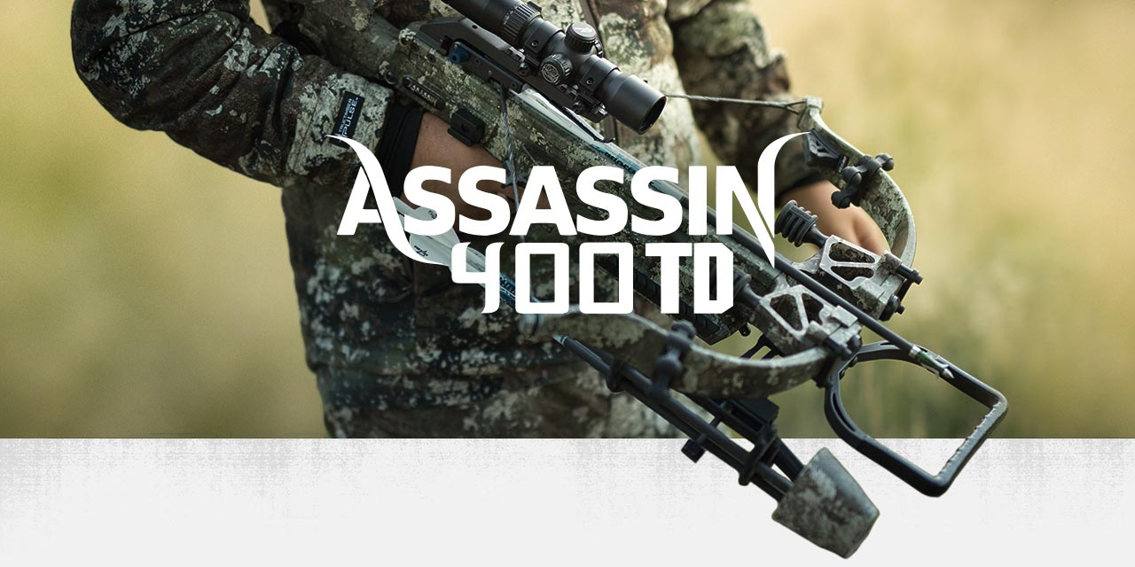 Excalibur Assassin 400TD crossbow in camo