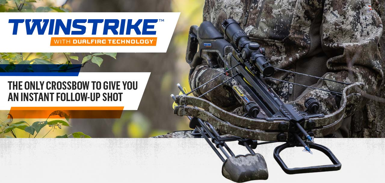 TwinStrike with DualFire Technology - The only crossbow to give you an instant follow-up shot