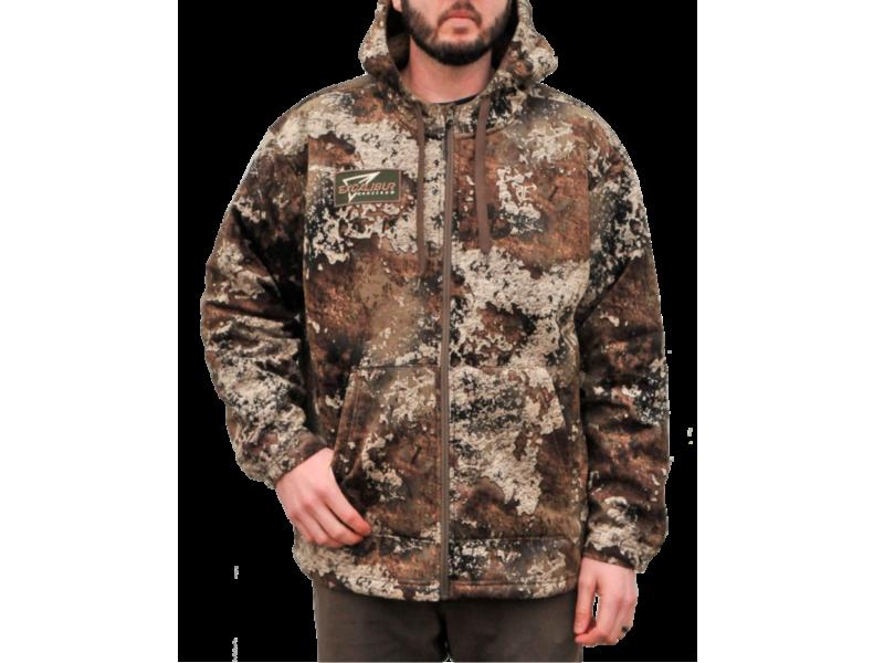 Zippered High Pile Fleece Hoodie
